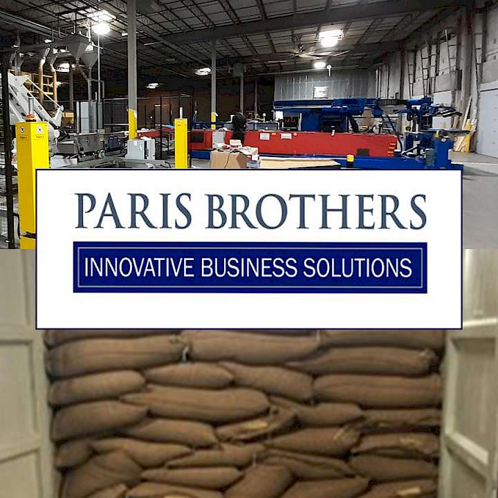 Copal unloads coffee beans automatic at Paris Brothers